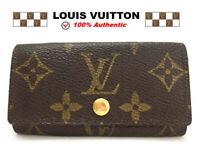 Authentic Louis Vuitton Monogram Multicles 4 Ring Key Case