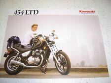 1990 Kawasaki 454 Ltd EN450 - A6, NOS Sales Brochure 2 Pages.