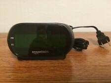 AmazonBasics Small Digital Alarm Clock with Nightlight and Battery Backup Nwob