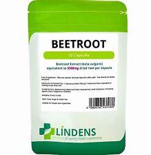 Beetroot max-strength 3500mg/50 capsules Blood Pressure/Hypertension (Lindens)