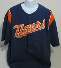 MLB Detroit Tigers Blue Stitches Baseball Jersey Mens XL