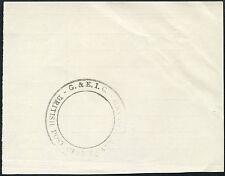 GILBERT + ELLICE CANTON ISLAND SPECIMEN HANDSTAMP LARGE CIRCLE on P.O PAPER