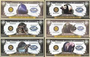 COMPLETE SET 2004-05 🐢🐼 Endangered Species Series 🐘🐯🐳 Million Fantasy Notes