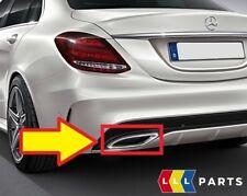 NUOVO Originale Mercedes MB CLASSE C W205 AMG Tubo Di Scarico Coda Chrome Trim Sinistro N/S