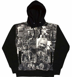 The Walking Dead Classic Image Sublimation Adult Zip Hoodie Daryl Zombies Horror