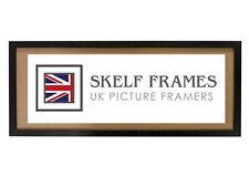 SKELF FRAMES  PHOENIX BLACK WOOD PANORAMIC PICTURE PHOTO POSTER FRAME with GLASS
