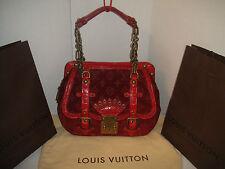 LOUIS VUITTON LIMITED EDITION VELOURS ALLIGATOR GRACIE GM RED Satchel Hand Bag