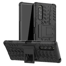 For Sony Xperia 5 Phone Cover Case Rugged Armor Dual-Layer Shockproof Kickstand
