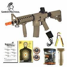 Lancer Tactical MK18 MOD0 Airsoft M4 RIS LT-02T Automatic Electric AEG Rifle Tan