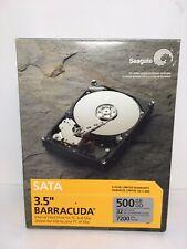 "Seagate Sata Barracuda 3.5"" Hard Drive PC & Mac ST3500641AS 500GB 32MB 7200RPM"