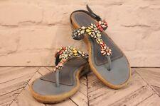 APEPAZZA Bejewelled Wedge Heels Sandals Women's Beach Holiday Shoes RRP £75 UK 4
