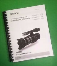 LASER PRINTED Sony NEX VG10 Digital HD Camera 161 Page Owners Manual Guide