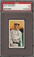 Rare 1909-11 T206 Billy Maloney Piedmont 350 Rochester PSA 5 EX