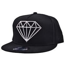 7b7e391219bb7 Plata Diamante designe Negro Plano Pico Gorra De Béisbol Rapero Hip Hop  Gorra