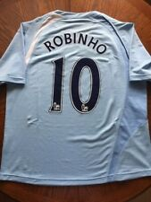 Robinho 10. Manchester City Home football shirt 2008 - 2009. Size: ERASED jersey