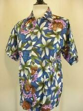 Men's S Vtg 1990's Hawaiian Aloha Shirt Go Barefoot Hawaii USA Made Ukulele NWT