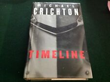 Michael Crichton Timeline Hard Cover book ex library