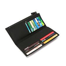 54ba90d57b Portafoglio Uomo in Cuoio PU RFID Porta Carte di Credito con Taschino Zip  Monete