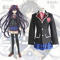 Anime DATE A LIVE Tokisaki Kurumi School Uniform Suits Halloween Cosplay Costume