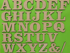 Wooden Large Small Letters 3-30cm (3mm Thin) MDF Toy Box Home Craft Deco Sign