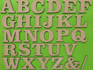 Large Wooden Letters Craft Decor Bold Small 3-30cm (3mm Thick) MDF Plaques Signs