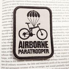 Airborne Paratrooper Bike MILSPEC MORALE TACTICAL MILITARY 3D BADGE PATCH