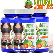 3X Pure Garcinia Cambogia Extract MAX 1000mg Natural Weight Loss 60% HCA Diet