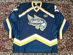 Vtg Totino-Grace Eagles Minnesota State High School Varsity Hockey Jersey Men XL