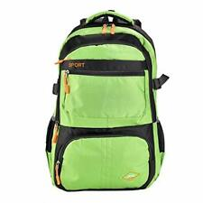Green Backpack Retro Sport Perfect for Travel, Work, Office, Camping and School