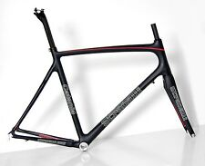 58CM XL STRADALLI CATANIA CARBON FIBER ROAD BIKE BICYCLE FRAMESET FRAME BLACK