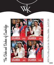 Uganda 2011 - ROYAL WEDDING PRINCE WILLIAM AND KATE MIDDLETON - Sheet of 4 - MNH