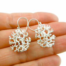 925 Sterling Silver Coral Shaped Earrings Gift Boxed
