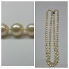 Collana di perle lunga singolarmente annodato COLLIER 835 ARGENTO Akoya