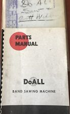 DoAll Parts Manual For DZ-36 Vertical Band Saw With Welder