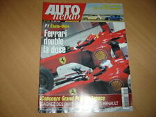 AUTO HEBDO 1449 du 23//6//2004; F1 Etats-Unis// Audi A3 V6 DSG// Alfa 147 GTA Selesp