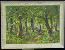 "FRAMED EARLY 20 c. IMPRESSIONIST PAINTING / SIGNATURE ILLEGIBLE ~ 27""x20"""