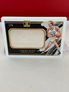 D2020-21 Panini Impeccable Larry Bird HOF Silver Bar Gold HOLO /8  AWESOME CARD