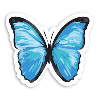 2 x 10cm Beautiful Blue Butterfly Vinyl Stickers - Pretty Laptop Sticker #20959