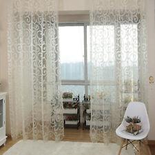 Floral Room Tulle Door Window Curtain Balcony Drape Panel Sheer Scarfs Valances