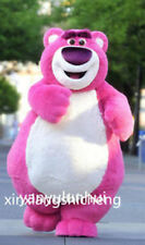 Pink Teddy Bear Cartoon Mascot Costume Cosplay Party Fancy Dress Adults Handmade