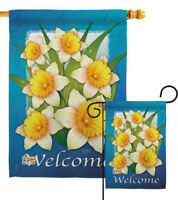 Daffodils Floral flowers elegant natural yellow Garden House Yard Flag