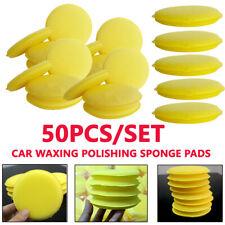 50pcs Car Waxing Polishing Sponge Pad Round Care Tool Accessories Buffing Foam