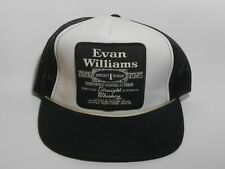 True Vintage Evan Williams Whisky Large Patch Trucker Mesh Snapback Hat Cap