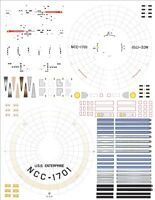 enterprise 1/1000 Polar Lights Star Trek TOS  model kit decals 1701 Decals