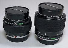 Olympus OM Zuiko Auto-Macro 50/2 & 90/2 Lens - Match Pair Same Serial No.