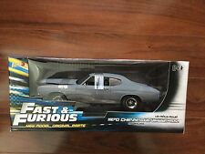 ERTL 1/18 AMERICAN MUSCLE 1970 FAST & FURIOUS GREY CHEVY CHEVELLE SS # 39579 F/S