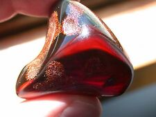 Cherry RED Burmite Amber Stone Cretaceous Age 99 Million Years Old LARGE 22 g