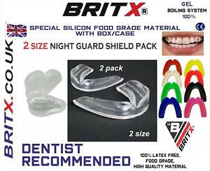 BRITX 2 Dental Mouth Guard for Grinding Teeth, Bruxism teeth Night Guard sleep