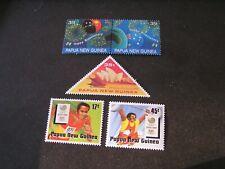 PAPUA NEW GUINEA, SCOTT # 695a/696a(pr)+701/702(2,1988 2-SETS  BICENTENNIAL MVLH