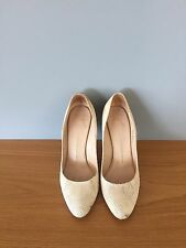 Giuseppe Zanotti Classic cream snake heels size 39.5